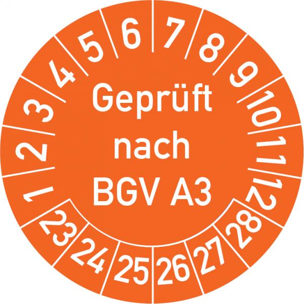 Geprüft nach BGV A3 Prüfplakette