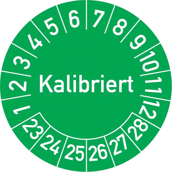 Kalibriert Prüfplakette
