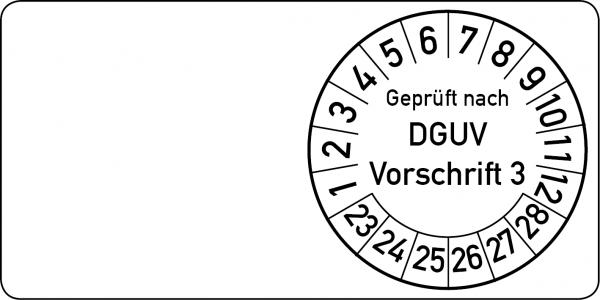 Geprüft nach DGUV Vorschrift 3 Kabelprüfplakette 60 x 30 mm