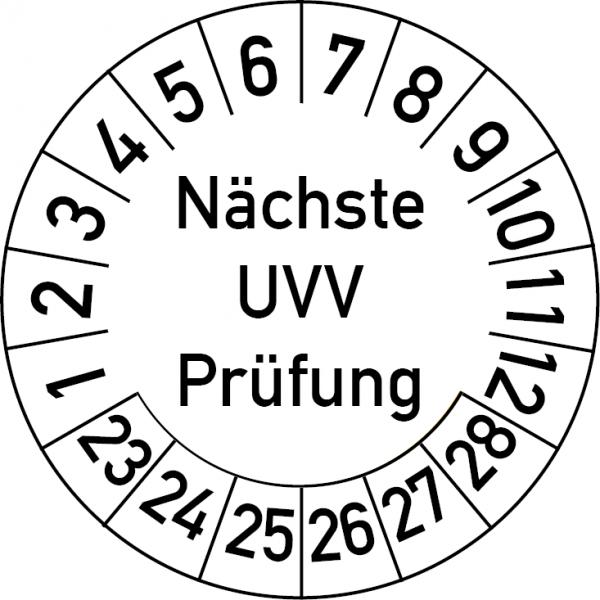 Nächste UVV Prüfung Prüfplakette