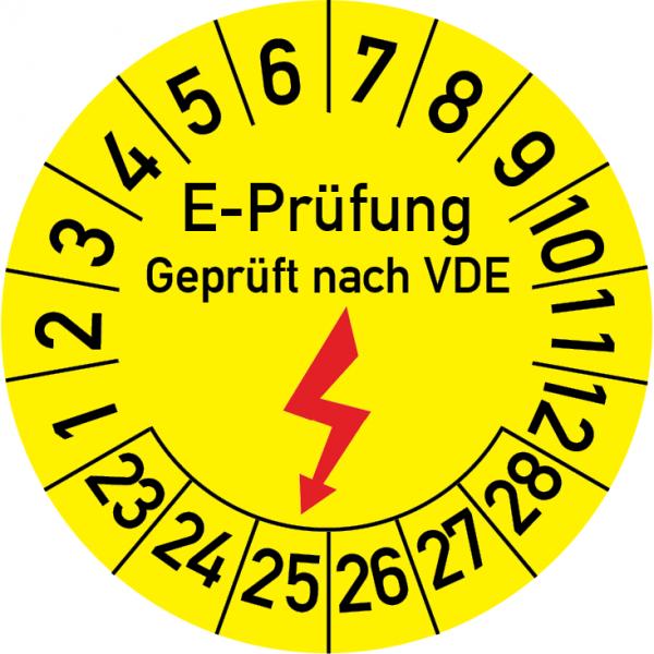 Elektro-Prüfung Geprüft nach VDE Prüfplakette