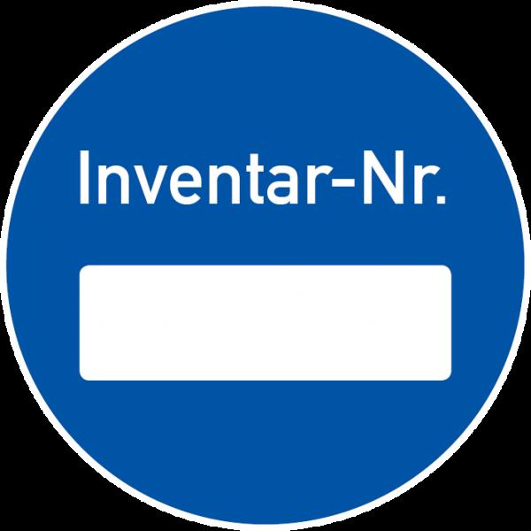 Inventaretiketten rund
