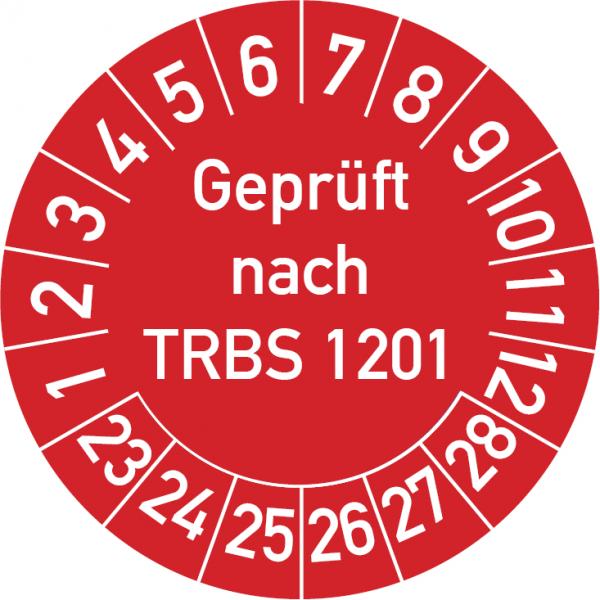Geprüft nach TRBS 1201 Prüfplakette