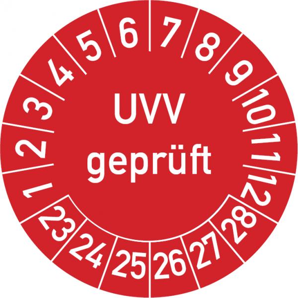 UVV Geprüft Prüfplakette