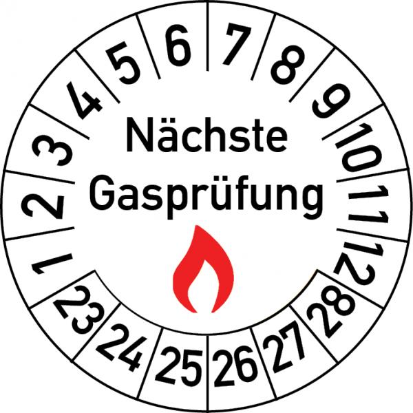 Nächste Gasprüfung Prüfplakette