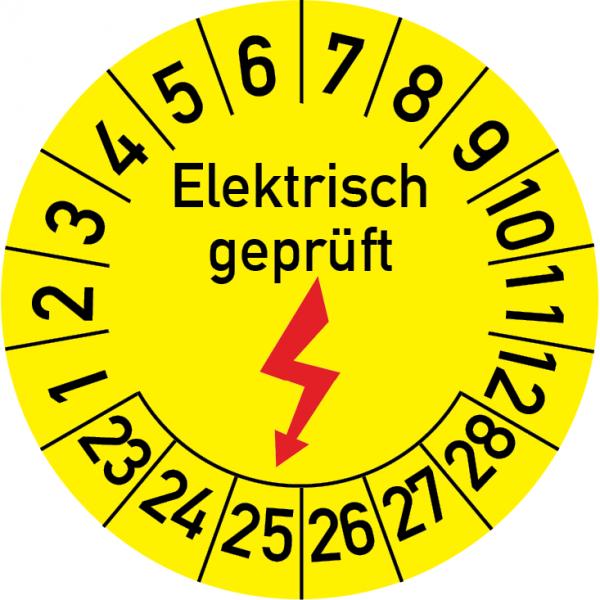 Elektrisch geprüft Prüfplakette