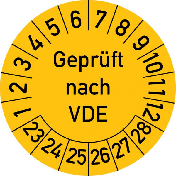 Geprüft nach VDE Prüfplakette